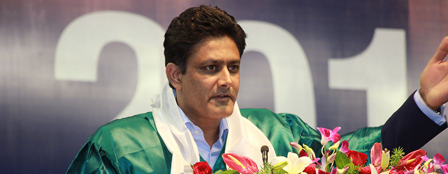 "''Treat success and failure with the same spirit"", advised Mr. Anil Kumble at FLAME University's annual convocation 2018"