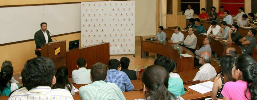 "Saurabh Mukherjea, CEO of Ambit Capital gives a talk on, ""Prime Minister Modi hits the reset button"""